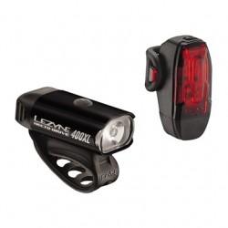Zestaw lampki LEZYNE HECTO DRIVE 400XL przód 400 lumenów, KTV tył 10 lumenów, usb czarne